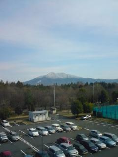 筑波山に雪。