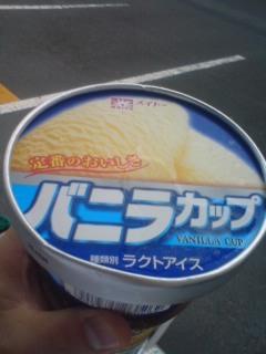 最後のアイス。